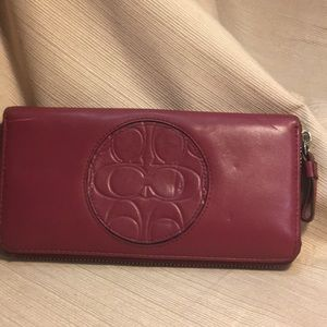 Coach leather large wallet